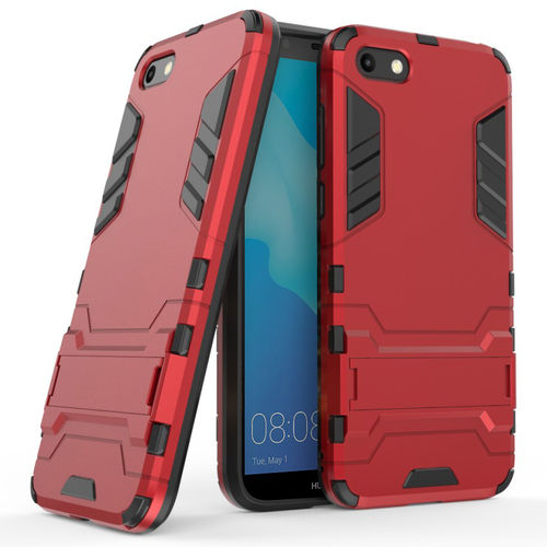Slim Armour Tough Shockproof Case for Huawei Y5 (2018) - Red